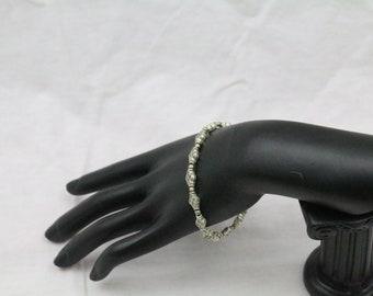 Made in Nepal - Tibetan Silver Beaded Bracelet