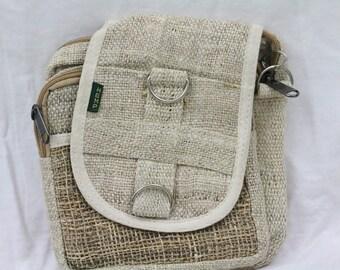 Made in Nepal - Bag - Hemp and  Passport - All Natural Hemp