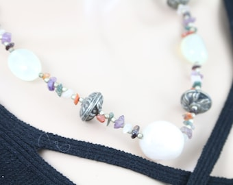 Made in Nepal - Jewelry - Stone and  Necklace - Rose Quartz and Various Stone