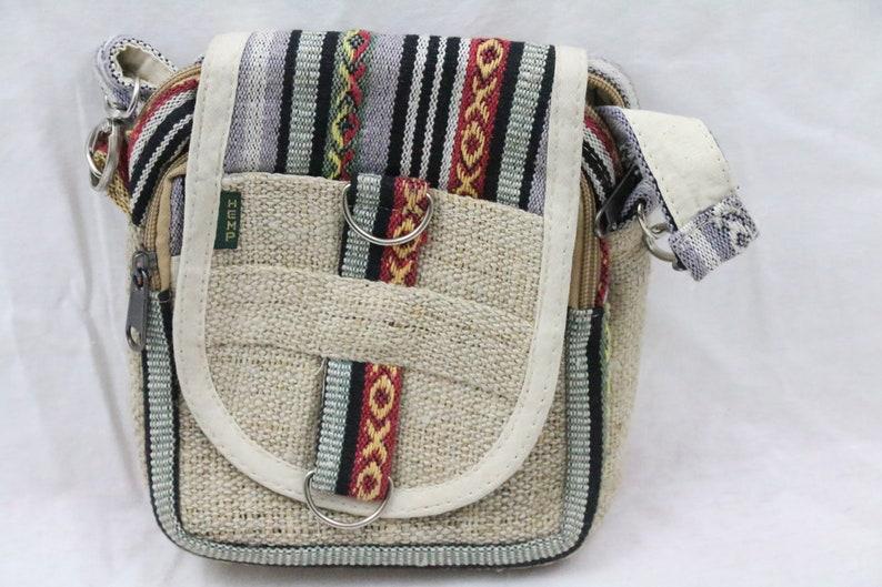 64ad6a21988e5b Bag Hemp and Passport All Natural Hemp Multicolor Cross | Etsy
