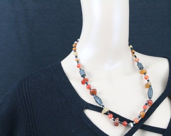 Made in Nepal - Jewelry - Stone and  Necklace - Mixed Stone Beaded