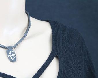 Made in Nepal - Jewelry - Yak Bone and  Necklace - Full Yak Bone Om