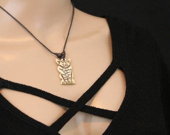 Made in Nepal - Yak Bone Necklace - Black Cord Necklace - Tibetan - Diety
