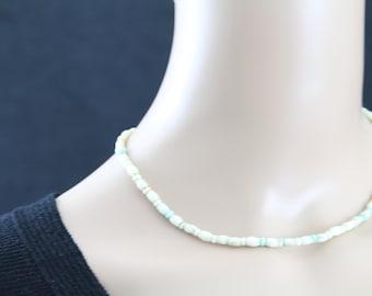 Made in Nepal - Jewelry - Yak Bone Necklace - White Small and Long Bone