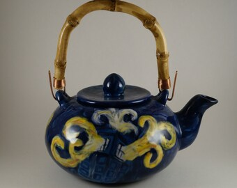 Van Gogh Exploding Tardis Teapot