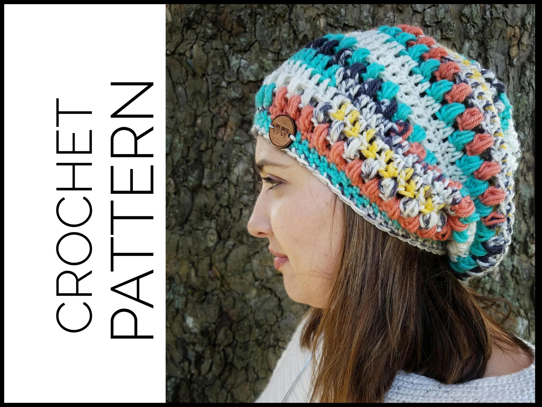 Crochet Hat Pattern Easy Beginner Crochet Pattern Boho Style Etsy