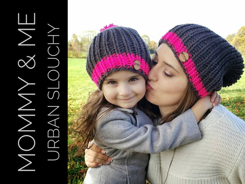 9a7c40f54dfba Matching Knit Hats  Mommy and Me Knit Beanies Mommy and me set