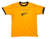 Vintage Anvil T-Shirt Mustard Yellow The Monroe Locale Scorpion Size Large L