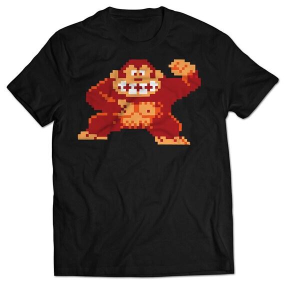 8 Bit Donkey Kong Black T-shirt for Men