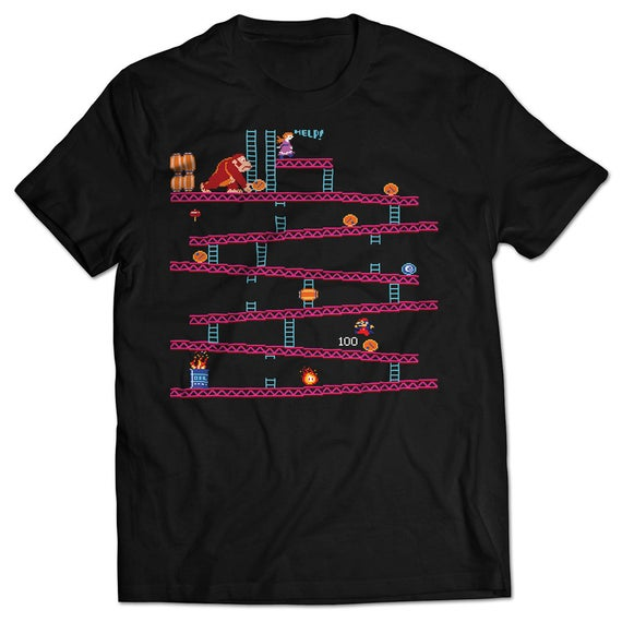 Adults Donkey Kong Level One Game Screen T-shirt