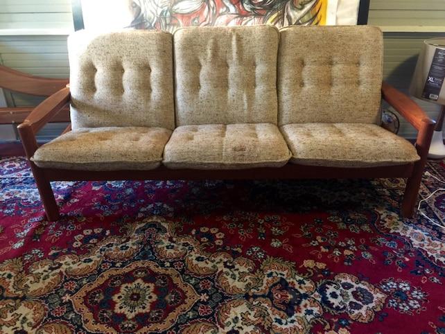 Vintage Mid Century Danish Modern Teak Sofa By Domino Mobler | Etsy
