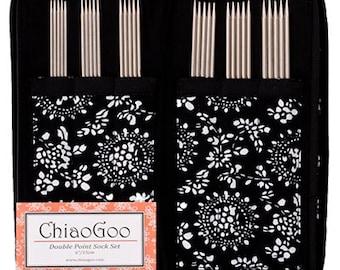 ChiaoGoo DPN Sock Set – Stainless Steel