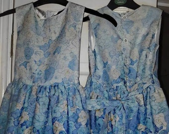 Blue floral ombre dress