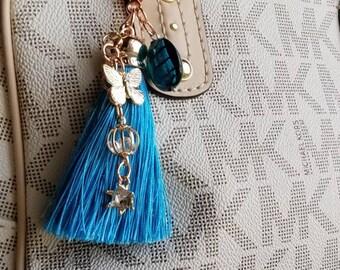 Butterfly Blues Purse Charm/ Zipper Pull