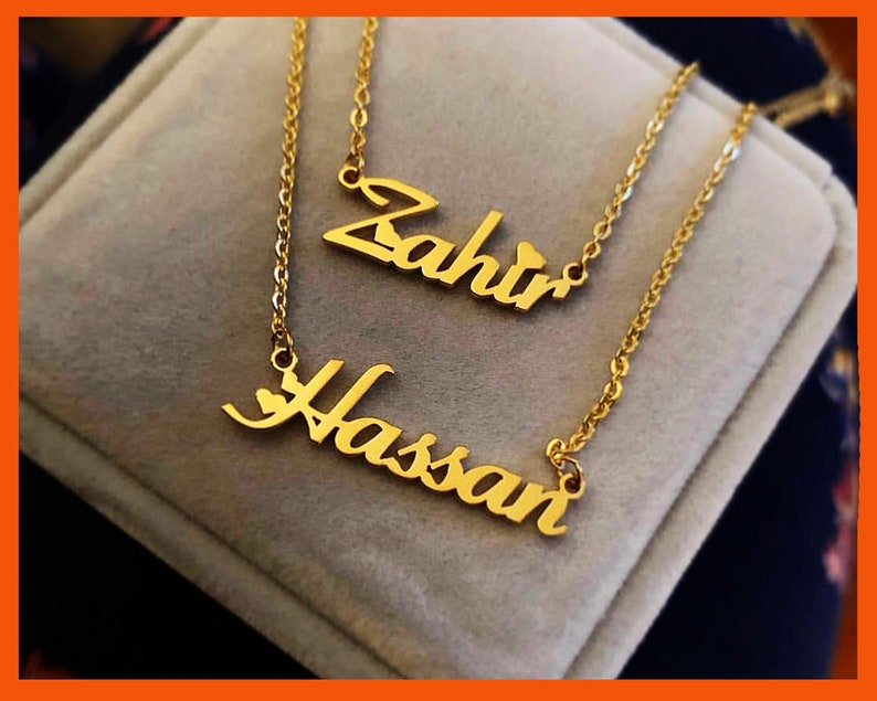 Customize nameplate necklace, Custom your name necklace, Personalized name  necklace, custom jewelry, silver gold or rose gold plated