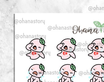 BUJI 277 | Heartbroken Crying | Hand-drawn Planner Stickers