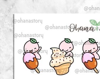 Buji - Ice Cream and Sundae - Planner Stickers (BUJI-031)