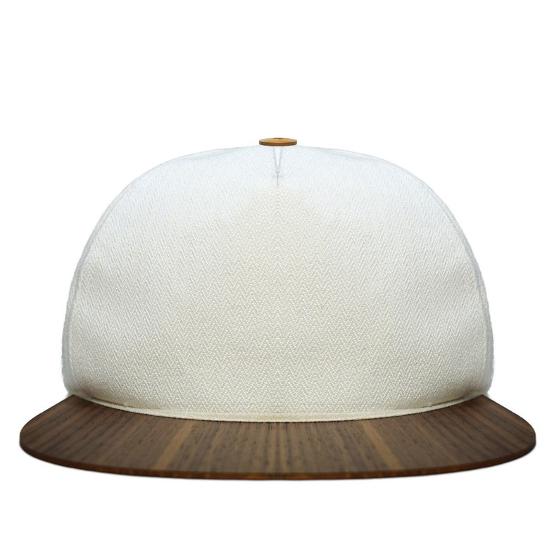 92240b0c57c1f White hat with unique wooden brim Made in Germany light