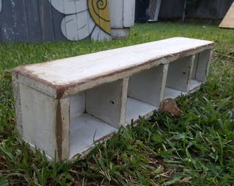Vintage White Carpenter's Nail/Tool Caddy