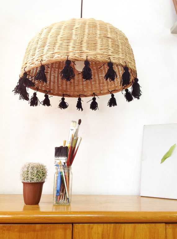 online retailer b645f 60972 Tassel chandelier, rattan chandelier, bohemian lighting, rattan lighting,  bedroom light fixture, nursery chandelier, dining light fixture