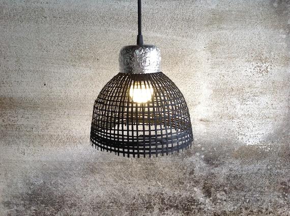 Kleine Lampen Bambus Anhanger Beleuchtung Farbe Schwarzen Mit Etsy
