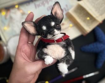 Chihuahua Handmade Dog Puppy Pet Doll Toy Animal OOAK