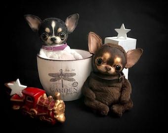 Chihuahua Handmade Dog Puppy Pet Teddy Doll Toy Animal