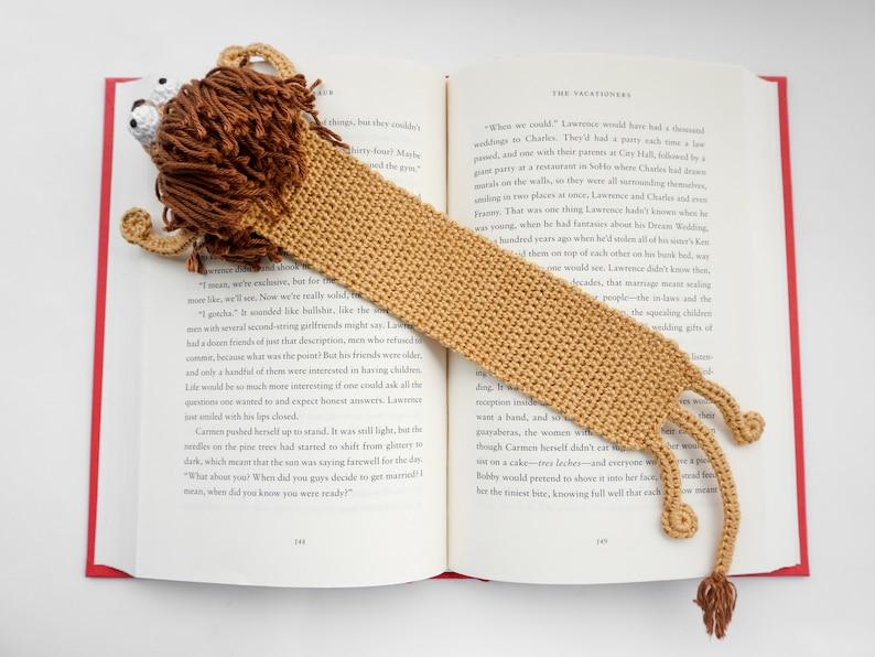Amigurumi PDF Pattern Lion Bookmark Crochet Pattern