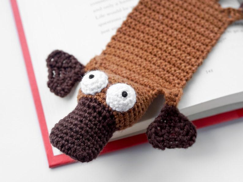 Platypus Bookmark Crochet Pattern  Amigurumi PDF Pattern image 0