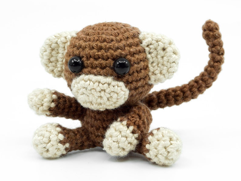 Mini Monkey Crochet Pattern  Amigurumi PDF Pattern image 0
