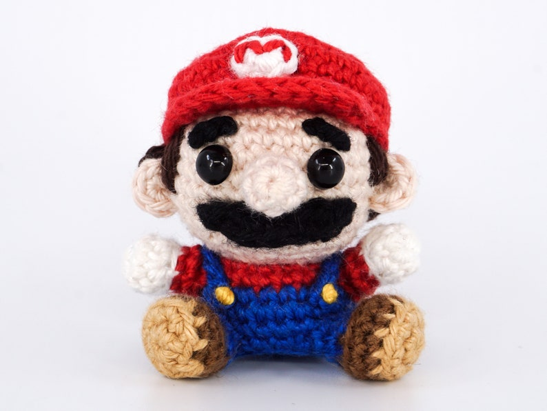 Mini Super Mario Crochet Pattern  Amigurumi PDF Pattern image 0