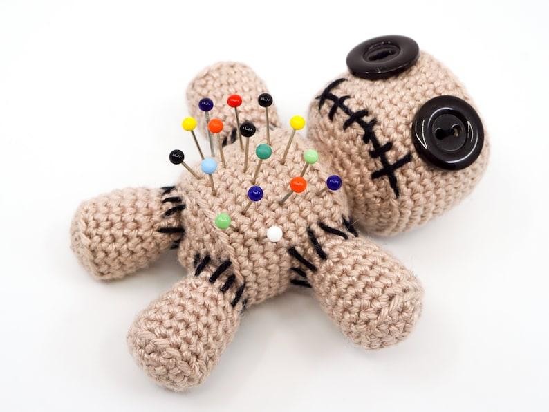 Voodoo Doll Pincushion Crochet Pattern  Amigurumi PDF Pattern image 0