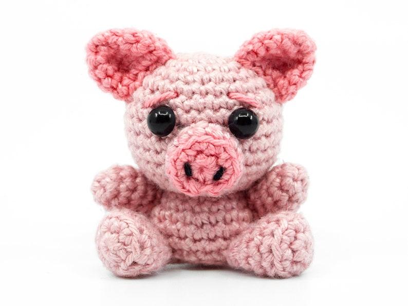 Mini Pig Crochet Pattern  Amigurumi PDF Pattern image 0