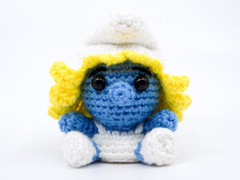 Mini Smurfette Crochet Pattern  Amigurumi PDF Pattern image 0