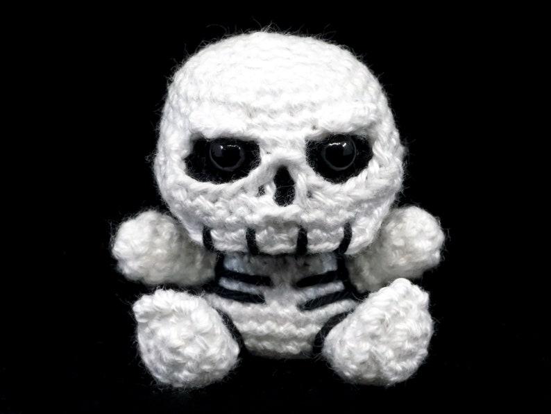 Mini Skeleton Crochet Pattern  Amigurumi PDF Pattern image 1