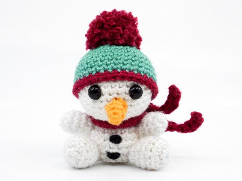 Mini Snowman Crochet Pattern  Amigurumi PDF Pattern image 0