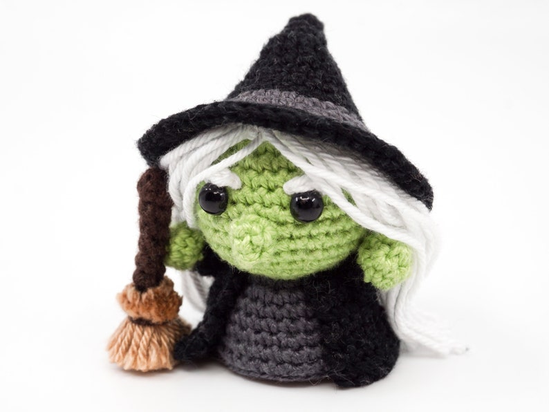 Mini Evil Witch Crochet Pattern  Amigurumi PDF Pattern image 0