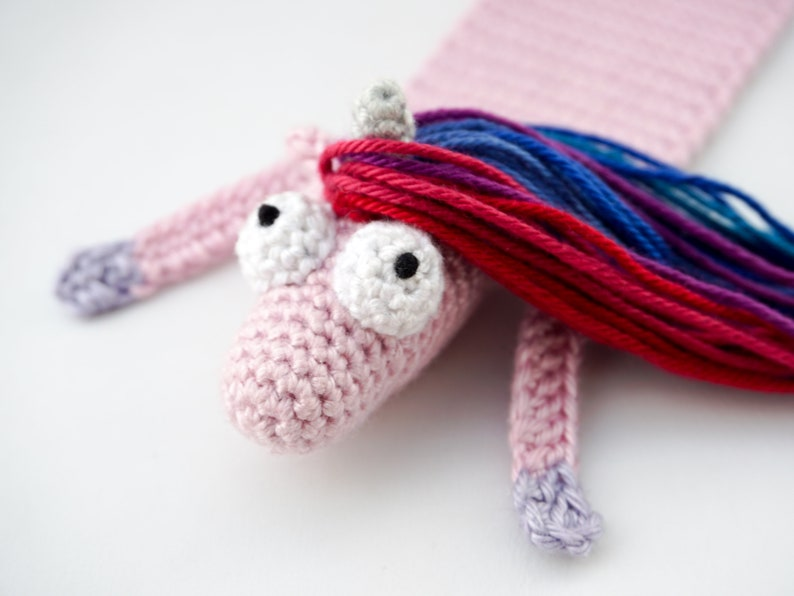 Horse and Unicorn Bookmark Crochet Pattern  Amigurumi PDF image 0