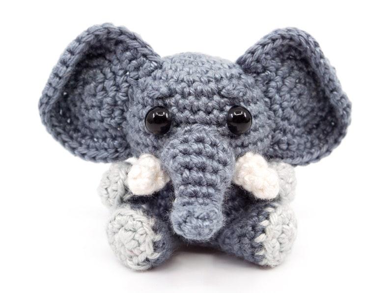 Mini Elephant Crochet Pattern  Amigurumi PDF Pattern image 0