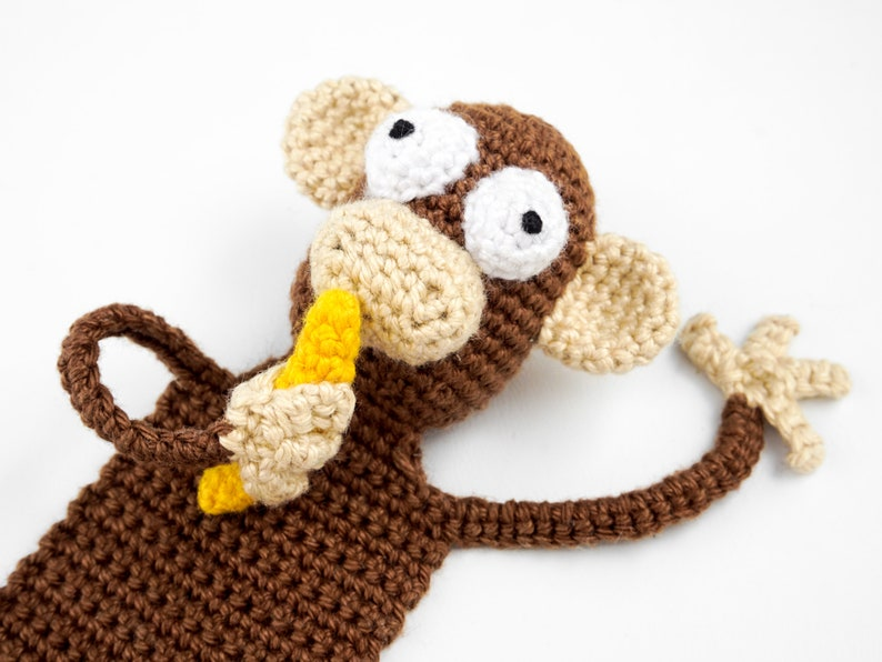 Monkey Bookmark Crochet Pattern  Amigurumi PDF Pattern image 0