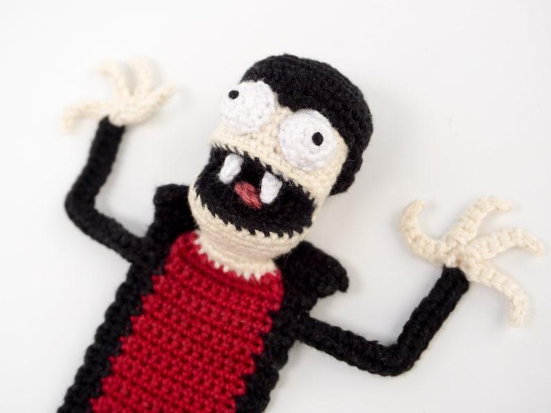 Vampire Bookmark Crochet Pattern  Amigurumi PDF Pattern image 0
