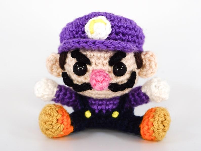 Mini Waluigi Crochet Pattern  Amigurumi PDF Pattern image 0