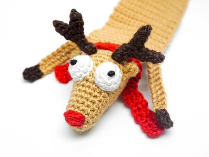 Reindeer Bookmark Crochet Pattern  Amigurumi PDF Pattern image 0