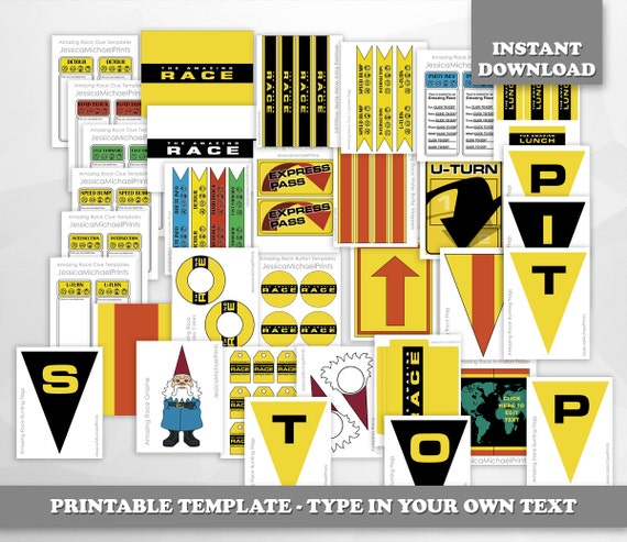 limited time the amazing race party printables digital