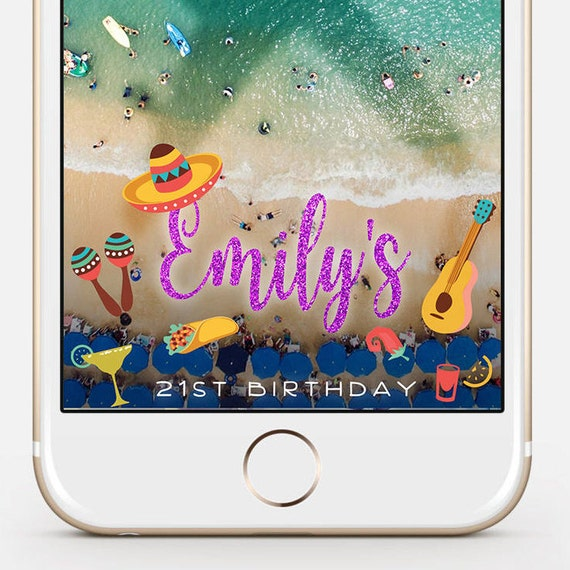 snapchat filter birthday snapchat geofilter birthday | etsy