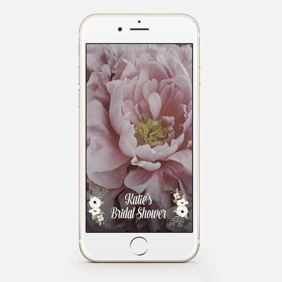 limited time bridal shower geofilter floral bridal shower | etsy