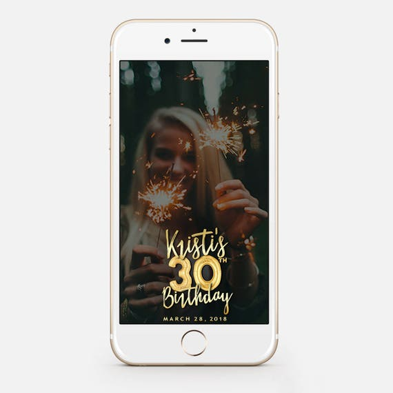 limited time birthday snapchat filter birthday filter | etsy