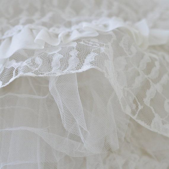 Vintage 50s tea length wedding dress - image 5