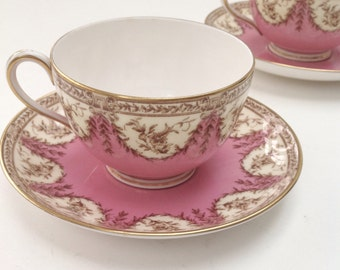 Stunning antique Victorian English teacup and saucer