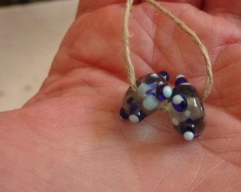 Duo beads Lampwork murano glass